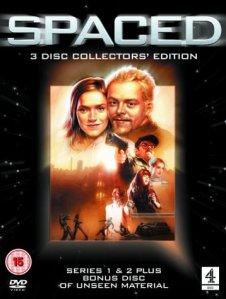 Star Wars influenserna syns tydligt på DVD-omslaget.