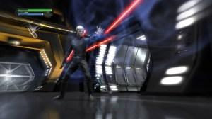 Luke, i RotJ kostym, använder Force push.