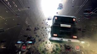 """I Dr Who avsnittet """"Gridlock"""" skapade trafikköer i luften så stora problem att folk föddes, levde och dog i sina bilar."""